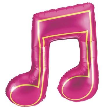 Pink Double Music Note Jumbo Foil Balloon