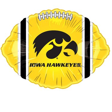 Iowa Hawkeyes Foil Football Balloon