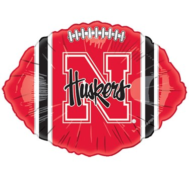 Nebraska Cornhuskers Foil Football Balloon