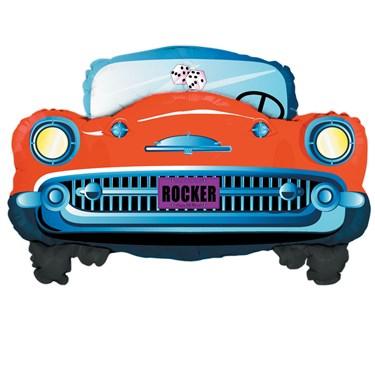 1950's Red Rock N Roll Car Jumbo Foil Balloon