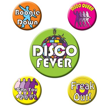 Disco Party Buttons
