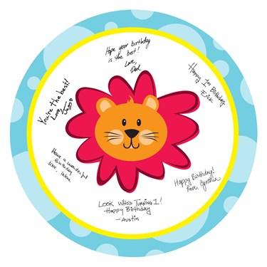 Safari Friends 1st Birthday Signature Plate