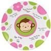 Pink Mod Monkey Birthday Signature Plate