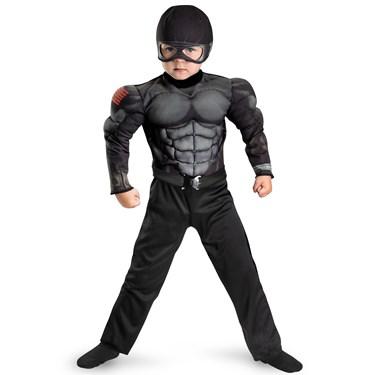 G.I. Joe Retaliation Snake Eyes Muscle Chest Kids Costume