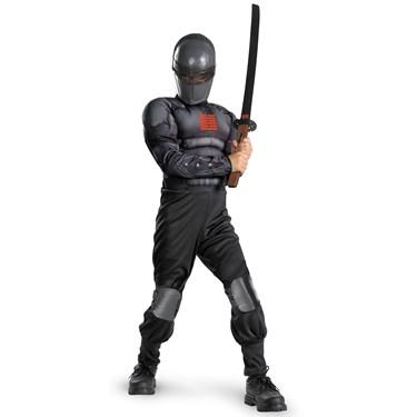 G.I. Joe Retaliation Snake Eyes Light Up Deluxe Muscle Chest Kids Costume