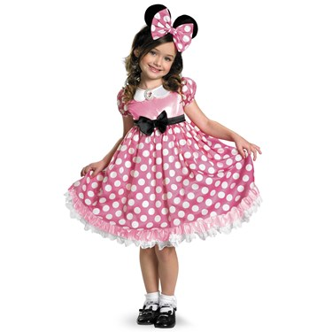 Disney Mickey Mouse Clubhouse Minnie Mouse Glow in the Dark Kids Costume