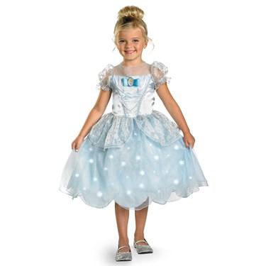 Disney Cinderella Deluxe Light Up Kids Costume