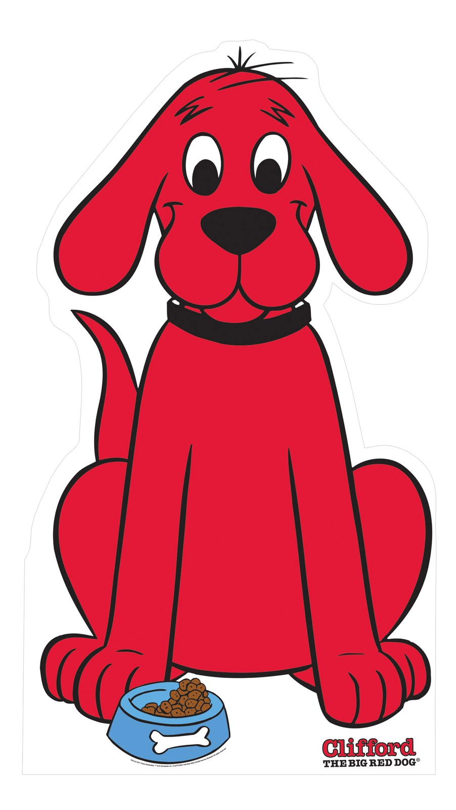 It's just a picture of Dynamic Clifford the Big Red Dog Clipart