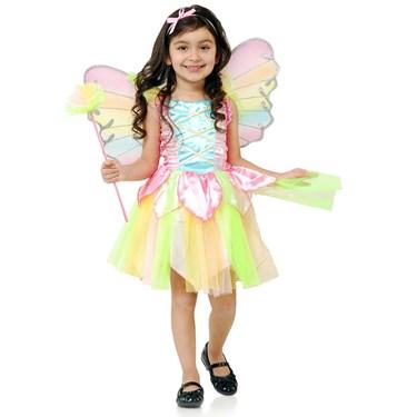 Rainbow Princess Fairy Kids Costume