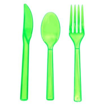 Neon Green Plastic Cutlery