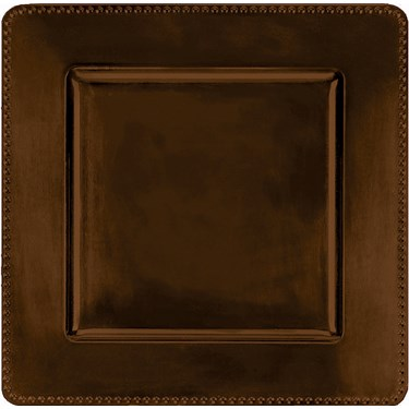 Brown Metallic Square Tray
