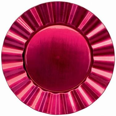 Raspberry Metallic Round Petal Tray