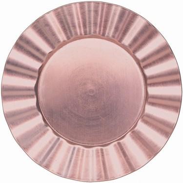 Pink Metallic Round Petal Tray
