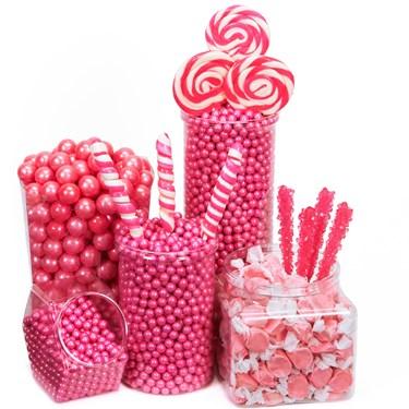 Pink Birthday Candy Buffet