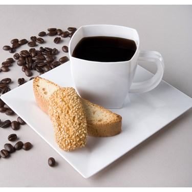 White Square Premium Plastic 8 oz. Coffee Mugs