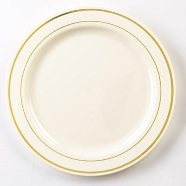 Bone & Gold Glimmerware Dessert Plates