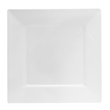 White Square Premium Plastic Dinner Plates