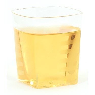 Clear Square 9 oz. Premium Plastic Cups