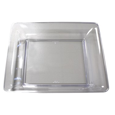 """Clear 11"""" Square Plastic Tray"""