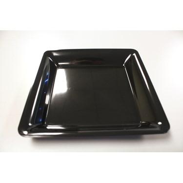 "Black 12"" Square Plastic Tray"