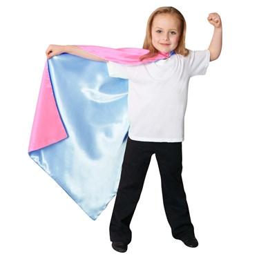 Blue / Pink Reversible Superhero Child Cape