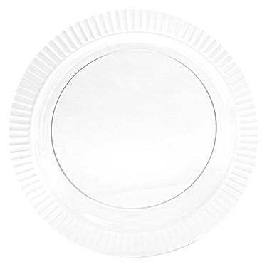Clear Premium Plastic Banquet Dinner Plates