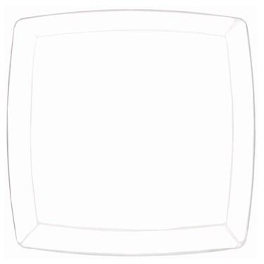 Clear Premium Plastic Square Platter
