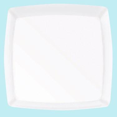 White Premium Plastic Square Platter