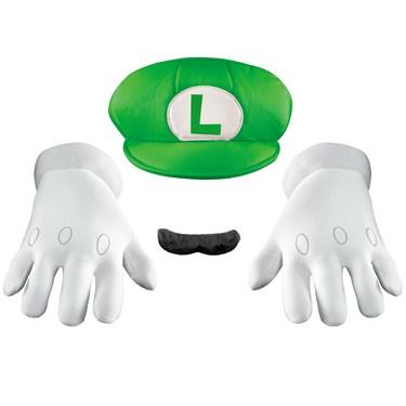 Super Mario Bros - Luigi Hat, Gloves And Mustache Costume Kit