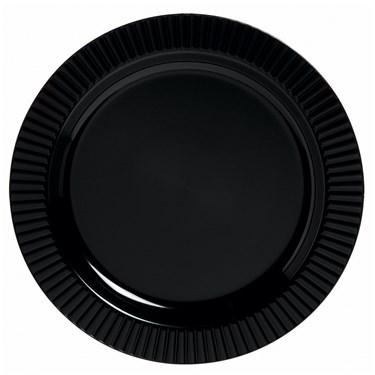Black Premium Plastic Dessert Plates