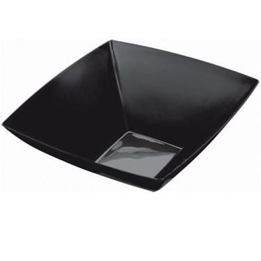 Black 20 oz. Premium Plastic Square Bowl