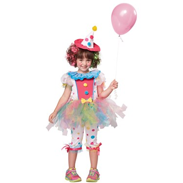 Rainbow Clown Girls Toddler Costume