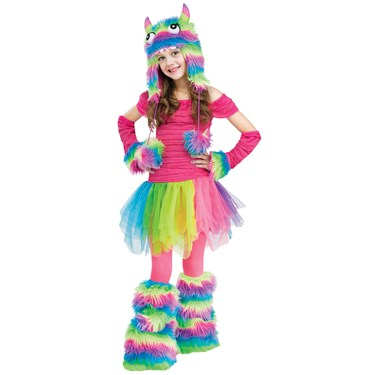 Rainbow Monster Girls Costume