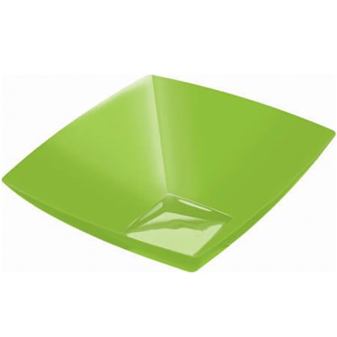 Kiwi 20 oz. Premium Plastic Square Bowl