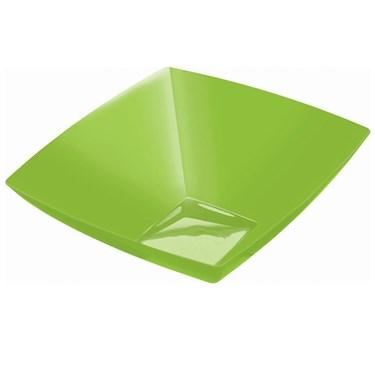 Kiwi 128 oz. Premium Plastic Square Bowl