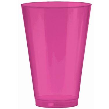 Bright Pink 14 oz. Premium Plastic Cups