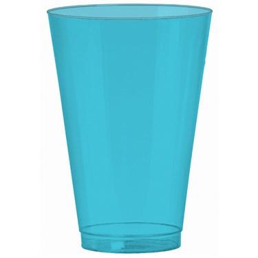 Caribbean Blue 14 oz. Premium Plastic Cups