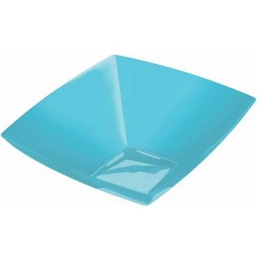 Caribbean Blue 20 oz. Premium Plastic Square Bowl