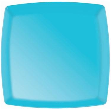 Caribbean Blue Premium Plastic Square Platter