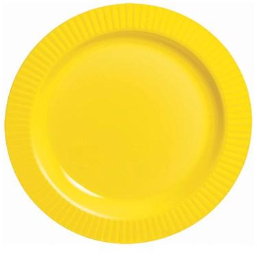 Yellow Premium Plastic Banquet Dinner Plates