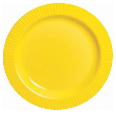 Yellow Premium Plastic Dessert Plates