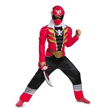 Power Ranger Super Megaforce Red Ranger Muscle Child Costume