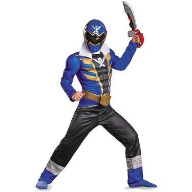 Power Ranger Super Megaforce Blue Ranger Muscle Child Costume