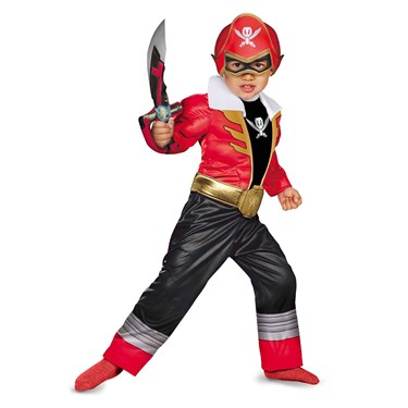 Power Ranger Super Megaforce -  Red Ranger Toddler / Child Muscle Costume