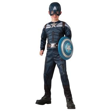 Captain America Winter Soldier - 2-1 Reversible Stealth/ Retro Captain America Kids Costume