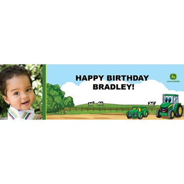 Johnny Tractor Personalized Photo Vinyl Banner