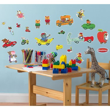 Richard Scarry's Busytown Removable Wall Decorations