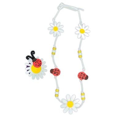 Foam Daisy and Ladybug Jewelry Activity
