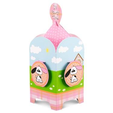 Playful Puppy Pink Centerpiece