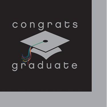 Congrats Graduate Graduation - Beverage Napkins